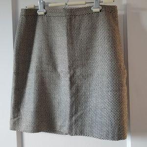 LOFT Tweed Pencil Skirt Black and Cream 4